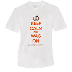 Keep Calm and Wag On Tee Shirt